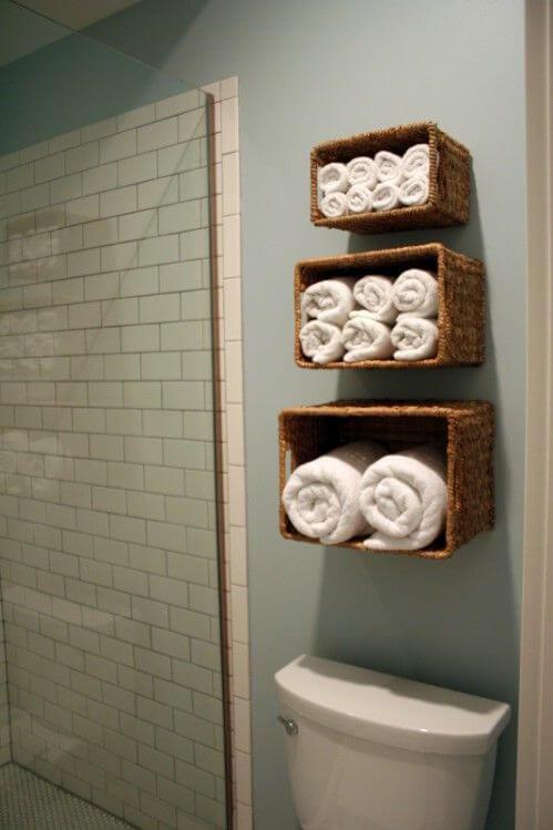 wall towel storage