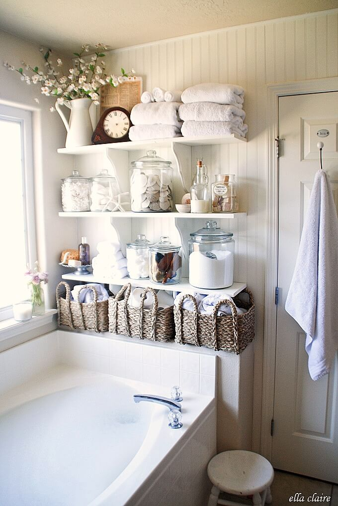 towel storage basket