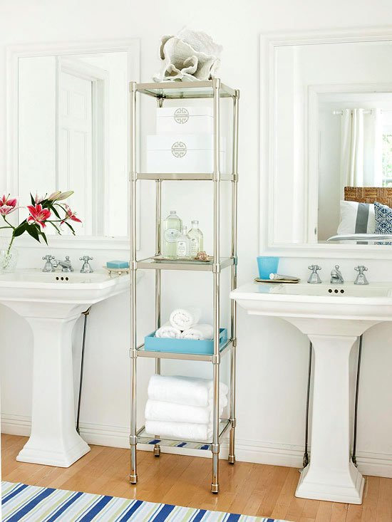 glass shelves storage