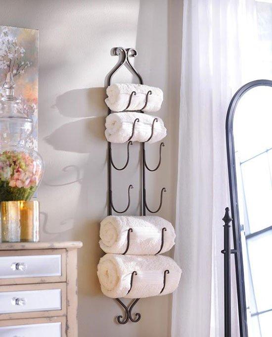 wine rack towel storage