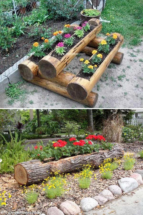 Garden Projects From A Fallen Tree Logs 3 World Inside