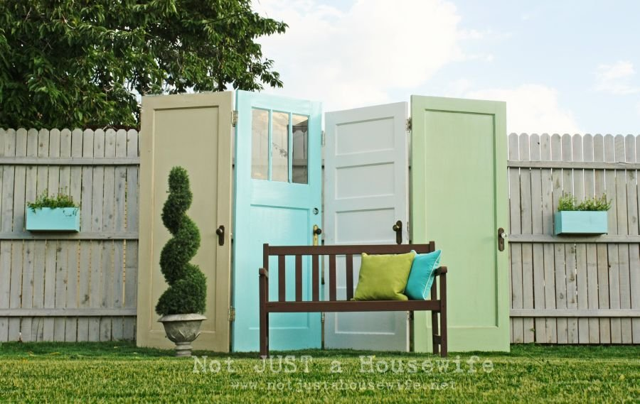 Old Doors Into Patio Privacy World Inside Pictures