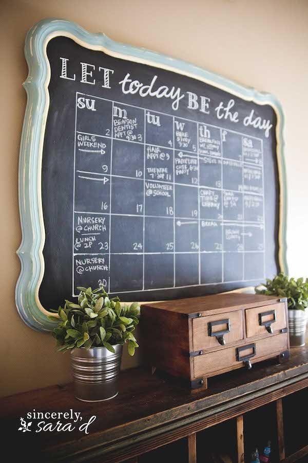 wall schedule organization