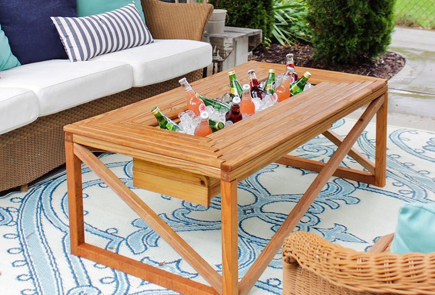 table drink cooler