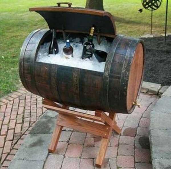 barrel drink cooler