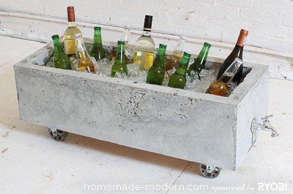 concrete drinks cooler