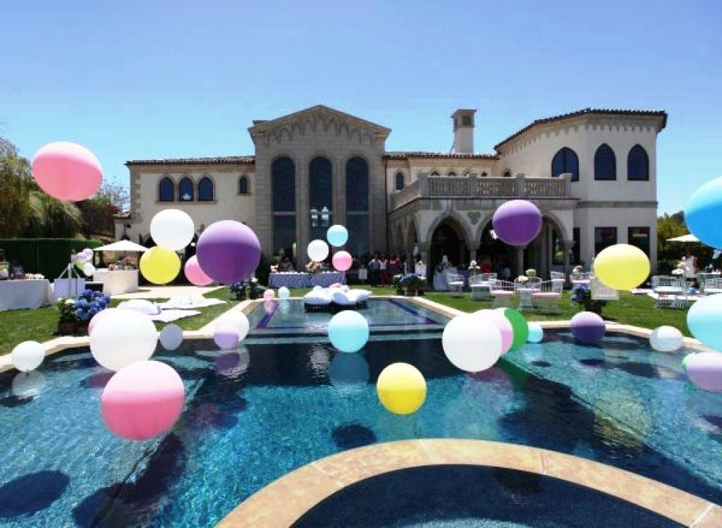 romantic pool decorations