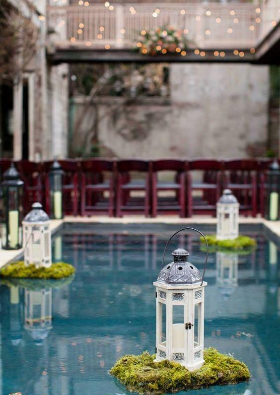 wedding pool floats