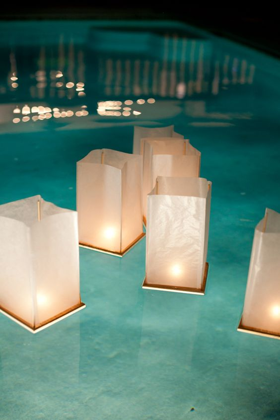 floating candles for pool