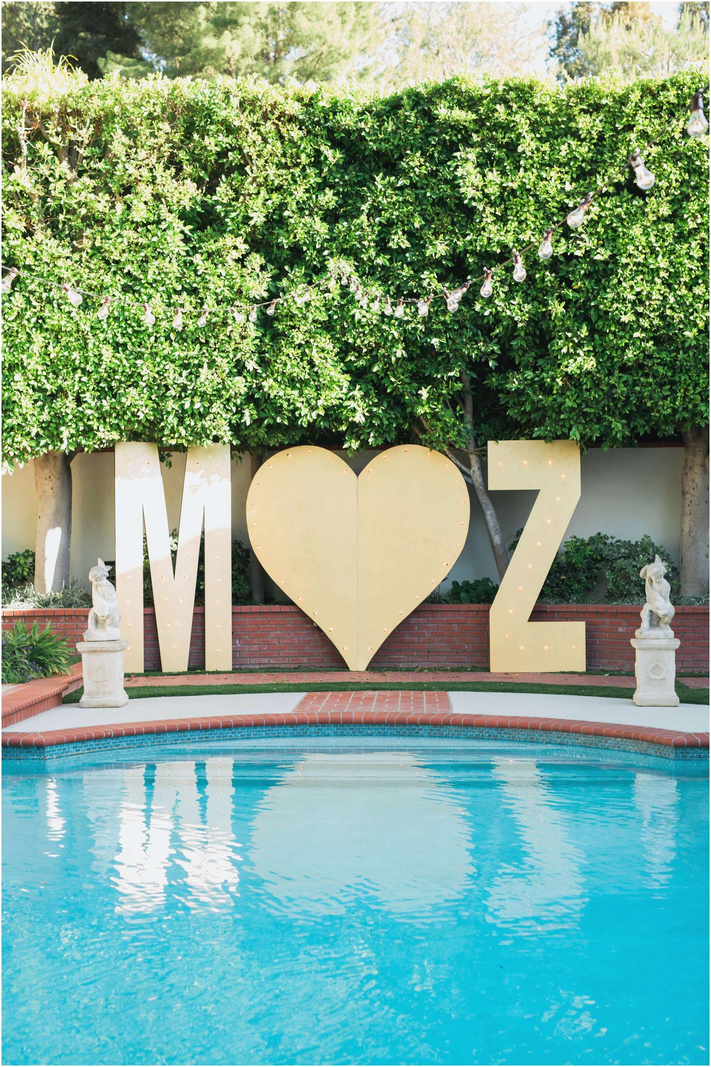 poolside wedding reception ideas