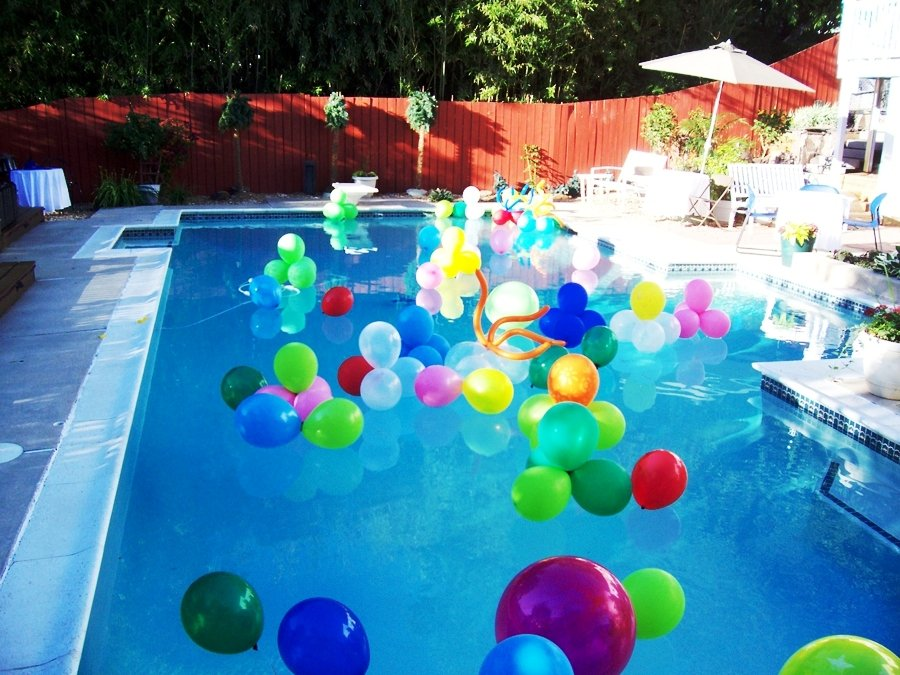 wedding pool party decorations