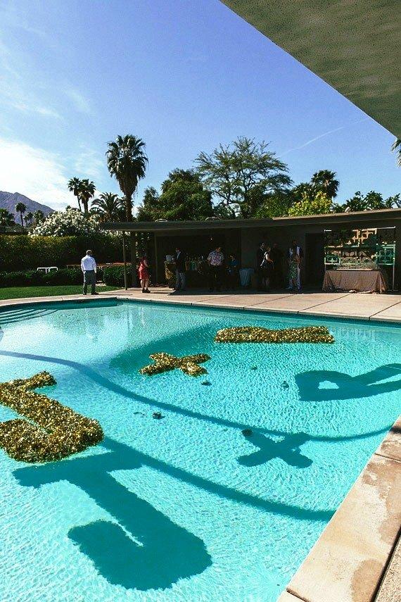 diy wedding pool decorations