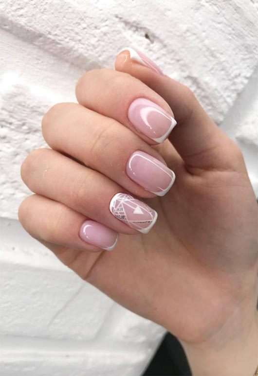 french nails square