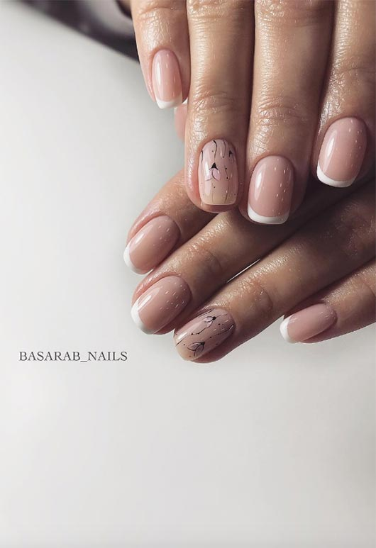 neutral french manicure