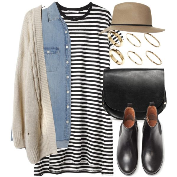 fall outfit balck and white polyvore