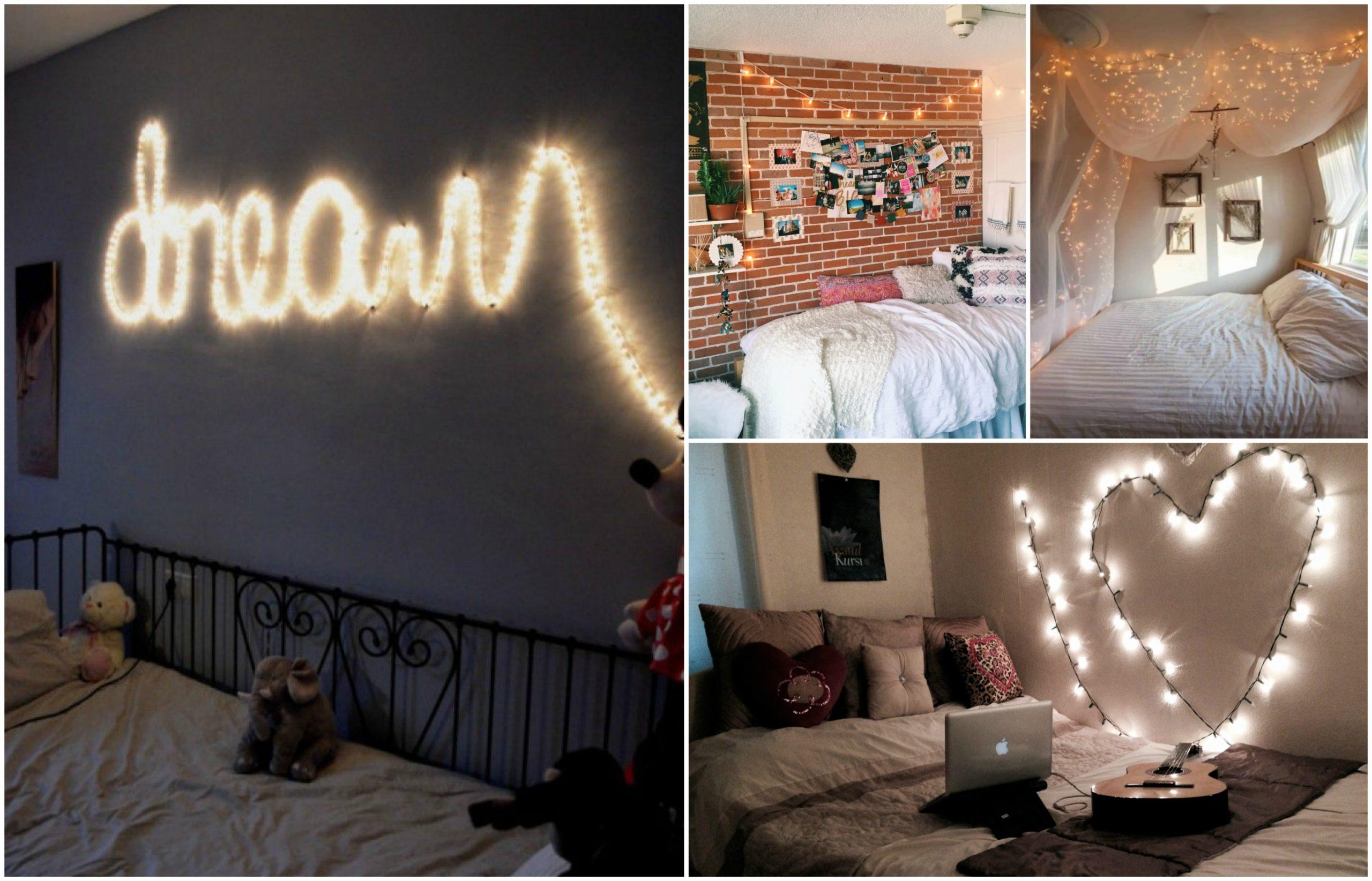 DIY String Lights Decorating Ideas For Your Bedroom ...