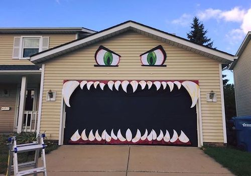 scary garage face