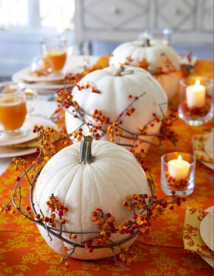 fall home decor table