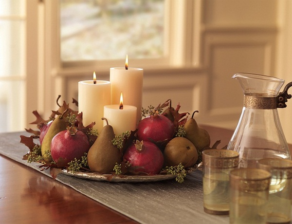 fall candles decor