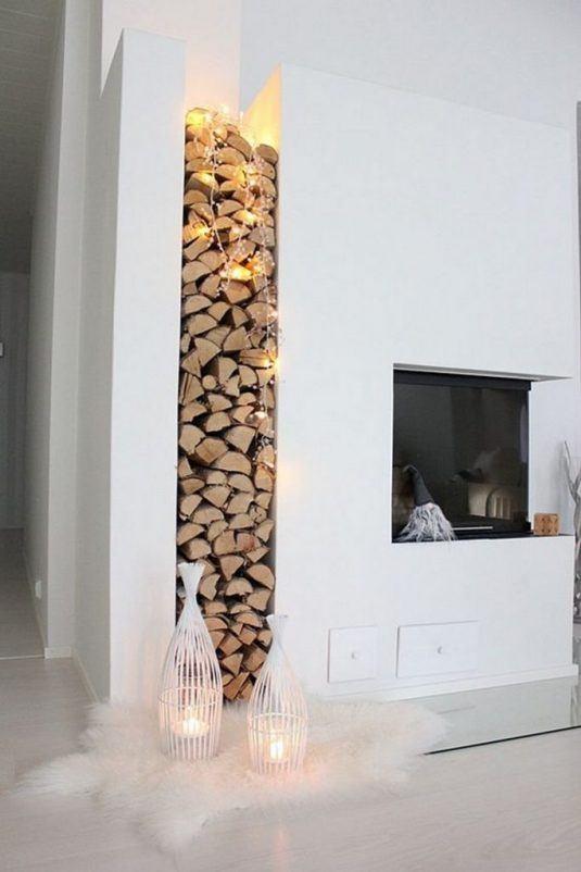 built-in indoor wood storage