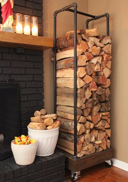 indoor wood storage rack