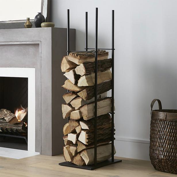 indoor firewood rack diy