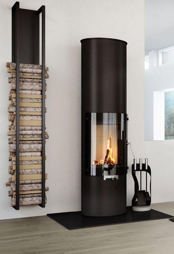 vertical wood storage