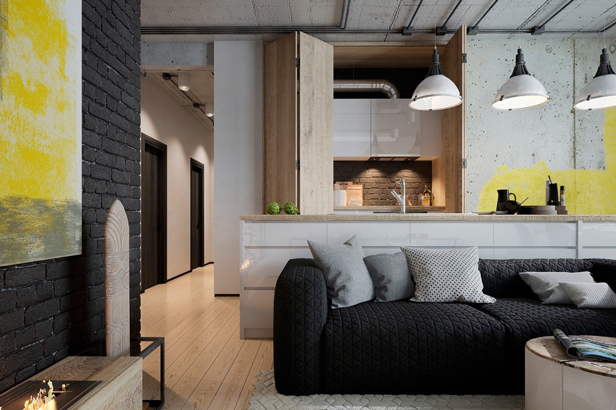 industrial living room