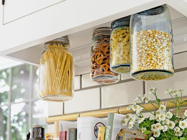 DIY under cabinet storage