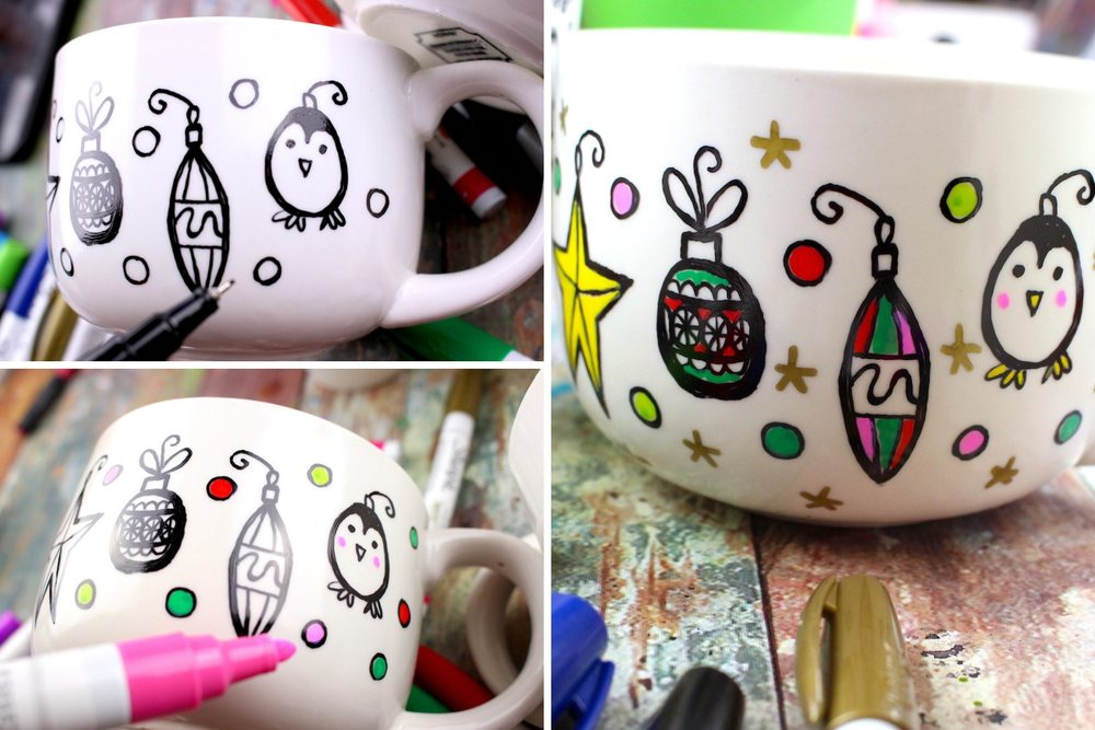 diy christmas mug ideas