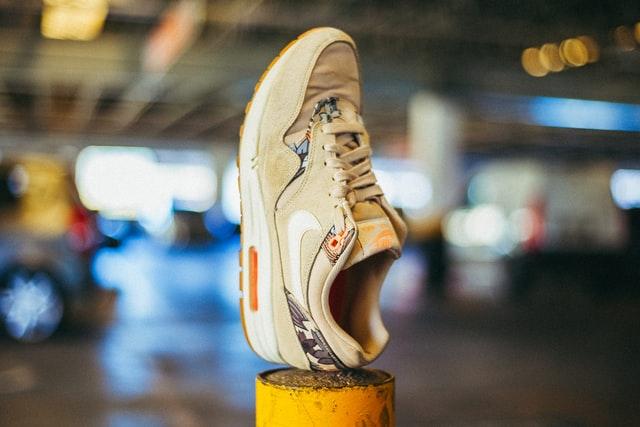 shoe on a pillar