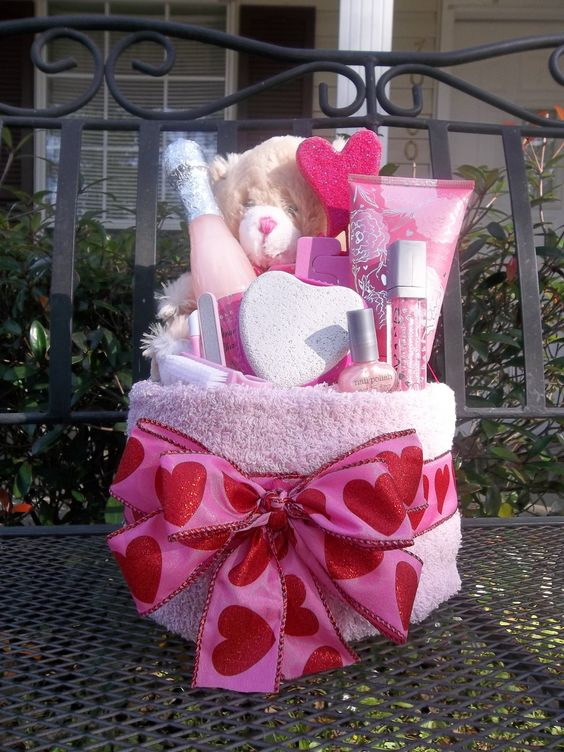 valentine's day spa basket