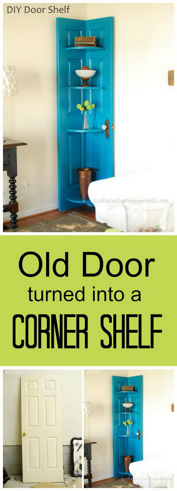 DIY door shelves