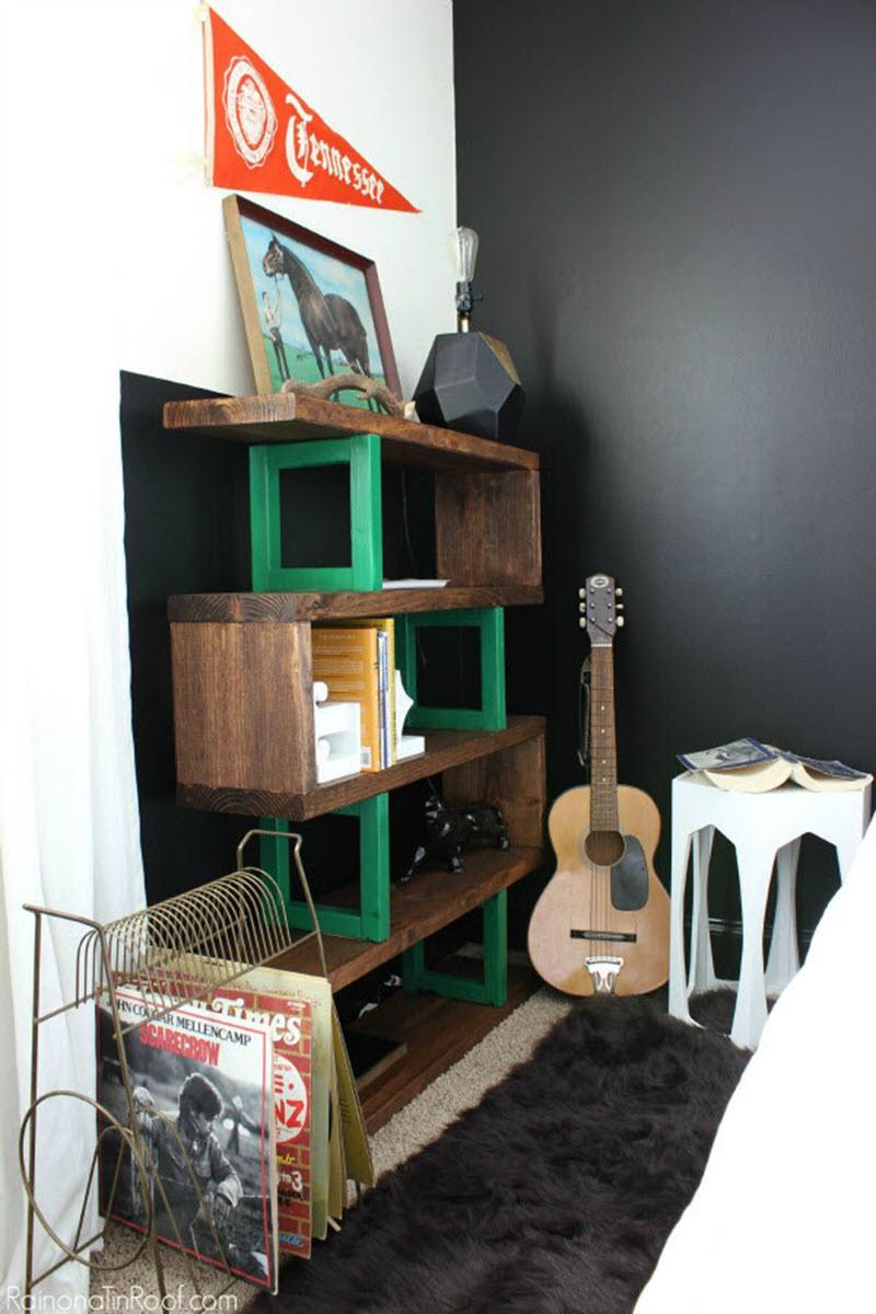 industrial diy shelves