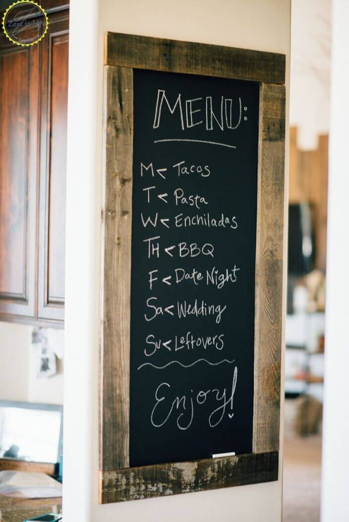 décor de menu du jour