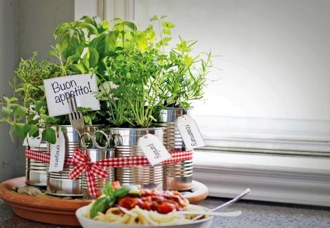 décor de cuisine aux herbes