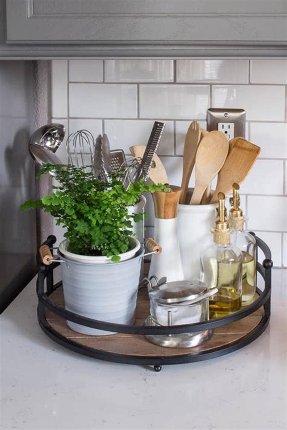 kitchen tray decorating ideas