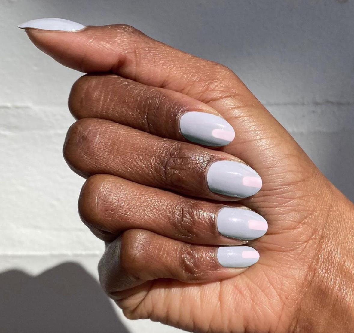 pastel spring manicure