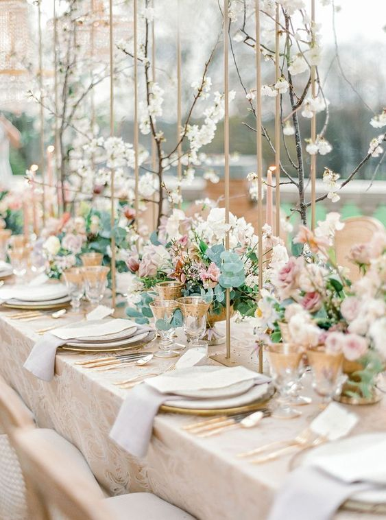 spring wedding table setting