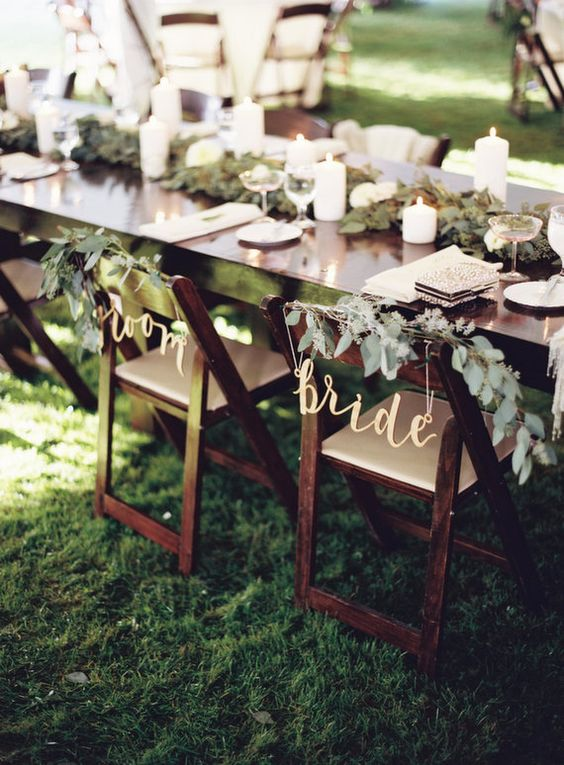 spring wedding chairs