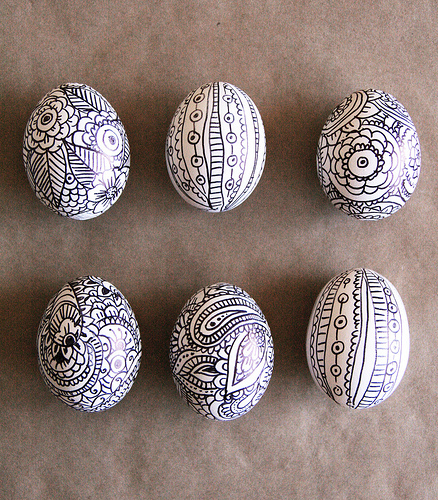 sharpie Easter eggs decoration