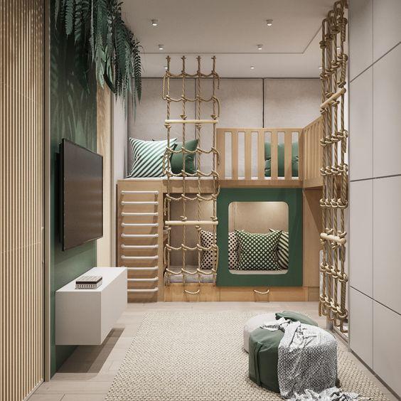 neutral kids bedroom design