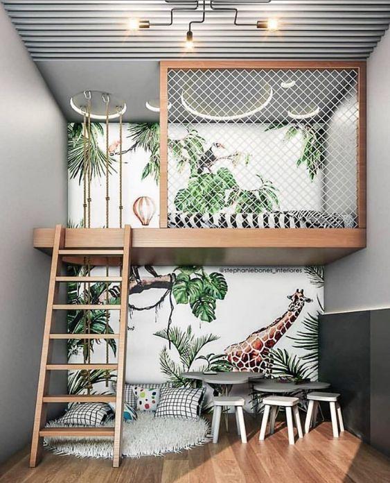 modern kids shared bedroom