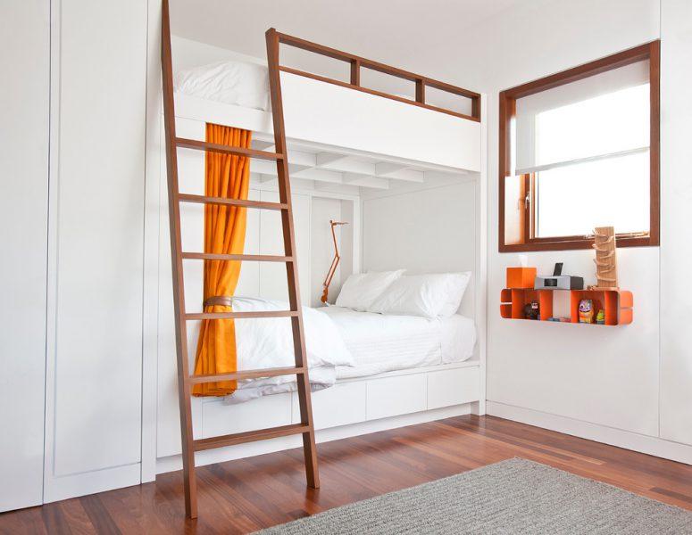 sleek shared kids bedroom design