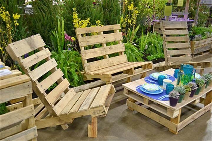 easy pallet outdoor furniture