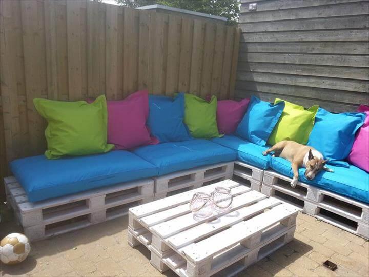 diy wooden pallet outdoor furniture