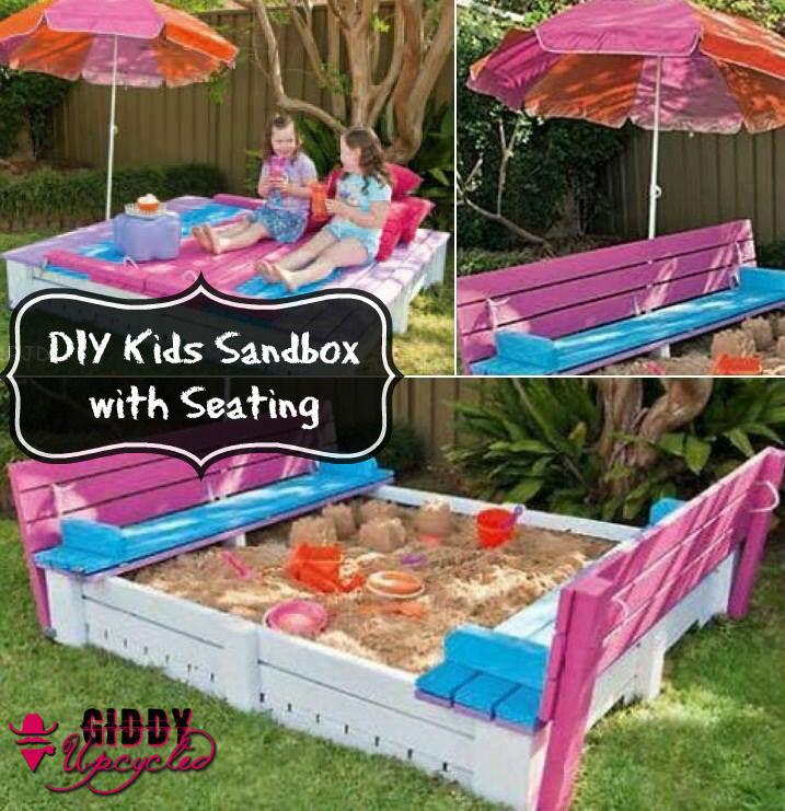DIY Pallet Sanbox