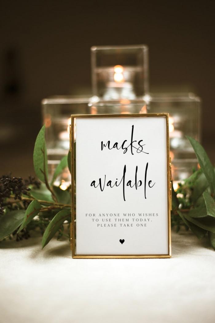 covid 19 wedding signs ideas