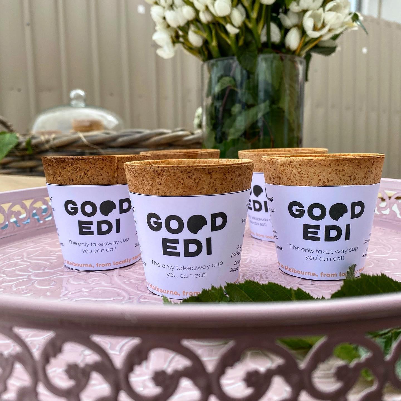 edible coffee cups takeaway