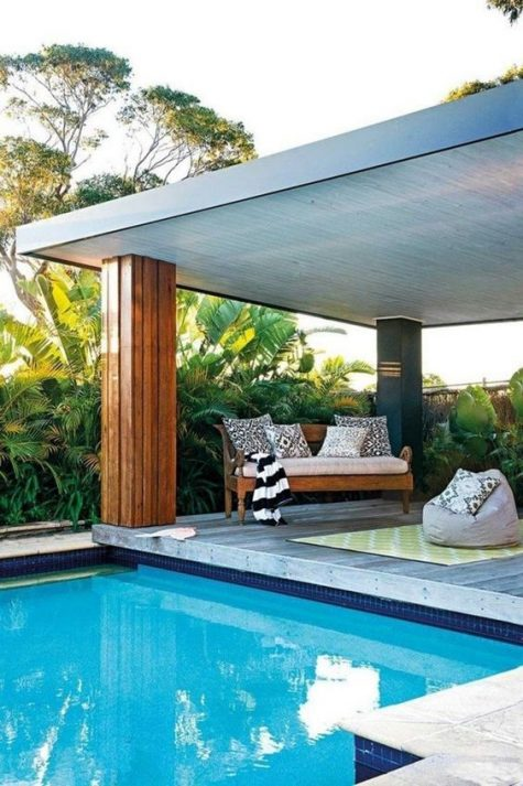 decorating pool area on a budget
